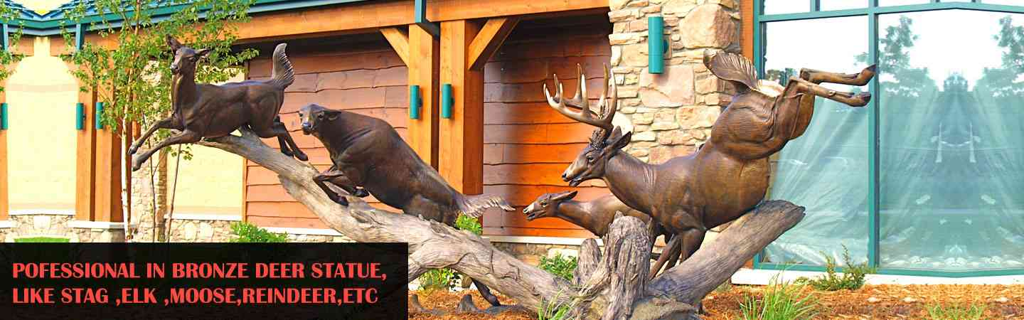 outdoor bronze moose statue for sale